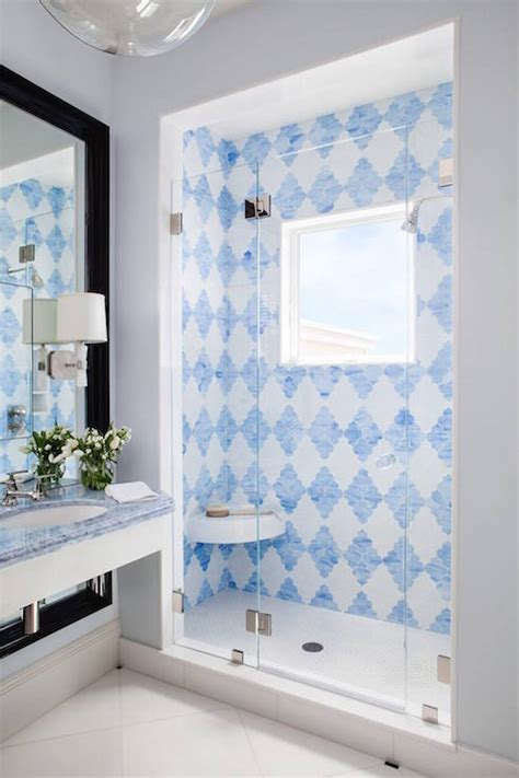 HD wallpapers framing a bathroom mirror