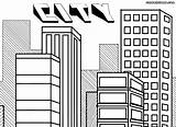 Coloring Pages Building Print Colorings City9 Coloringway sketch template