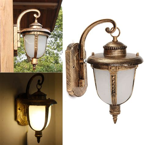 Outdoor Porch Lantern Vintage Wall Light Fixture Aluminum