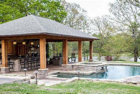 outdoor pool  fireplace designs swimming pools