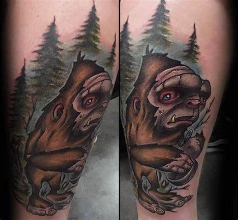 Usn Tattoos bigfoot tattoo designs  men mythological creature 599 x 555 · jpeg