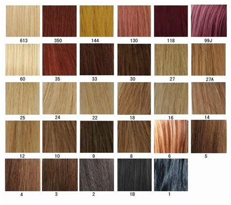 Chart Of Hair Colors by Hair Color Chart Aprillacewigs
