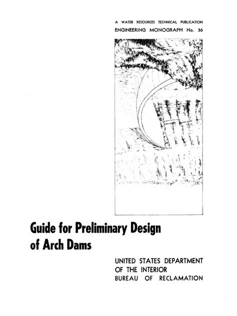 us bureau of reclamation us bureau of reclamation guide for preliminary design of