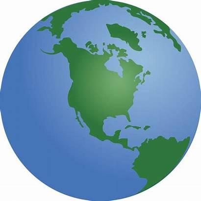 Globe Clip America Clipart North Earth Cartoon