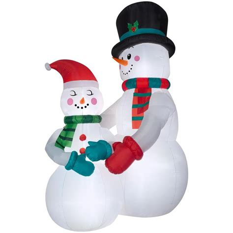 shop holiday living 10 5 ft x 4 69 ft lighted snowman
