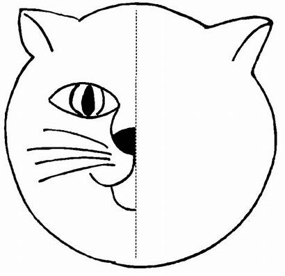 Symmetry Cat Coloring Activity Pages Activities Worksheets