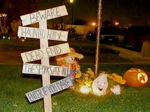 Homemade Outdoor Halloween Yard Decorations