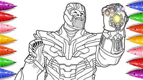avengers endgame coloring pages coloring thanos
