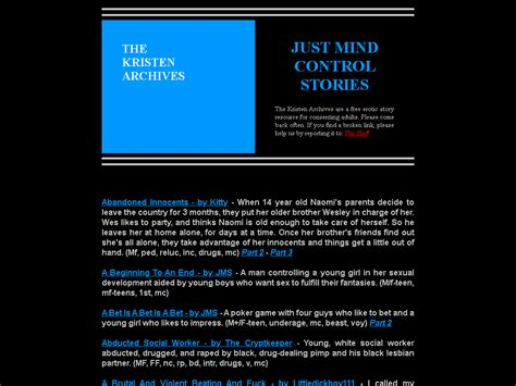 The Kristen Archives Just Mind Control Stories