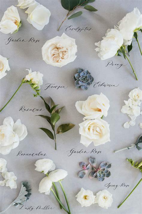 types  wedding flowers  colour elegantweddingca