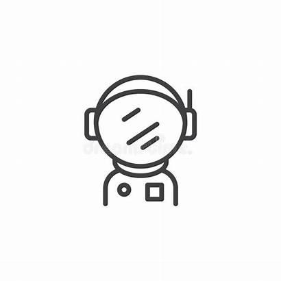 Astronaut Spacesuit Outline Helmet Spaceman Simple Icon