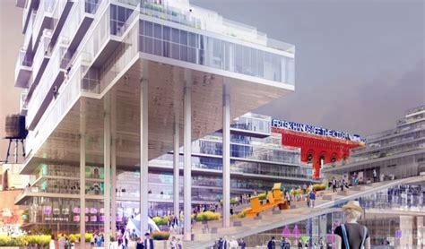 design development nyc revealed oda architects design cantilevering ziggurats