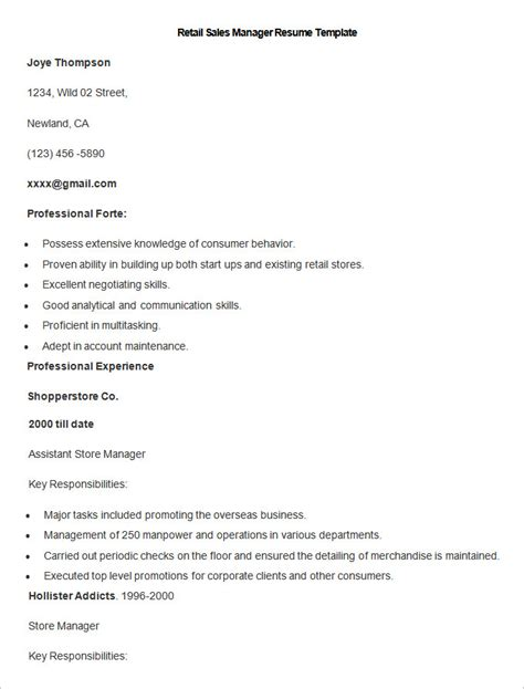 Retail Sales Manager Resume Exles by Sales Resume Template 41 Free Sles Exles Format