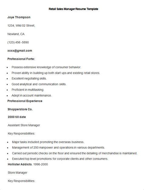 sales resume template 41 free sles exles format