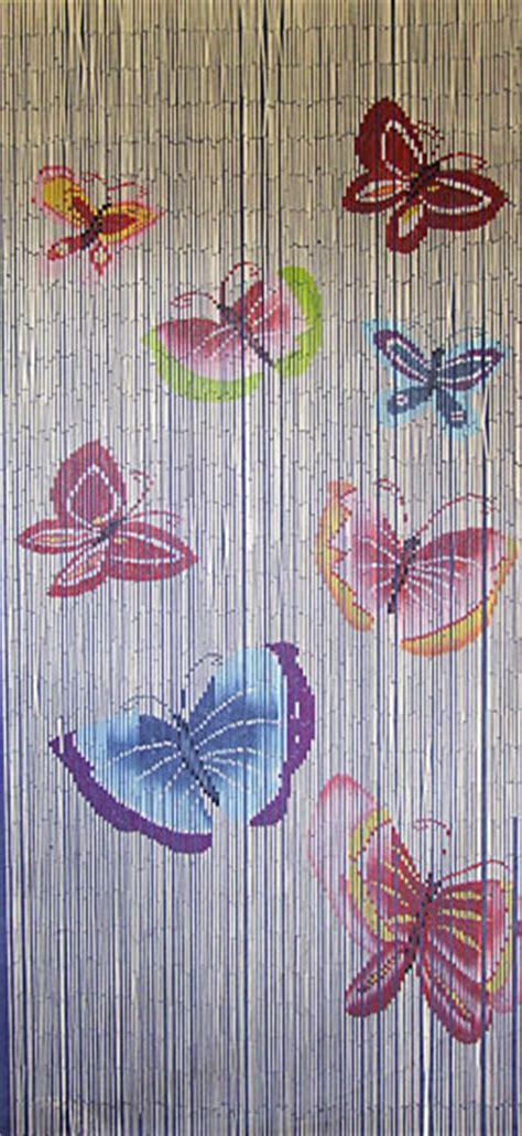 Door Bead Curtains Uk by Bamboo Door Curtain With Butterflies