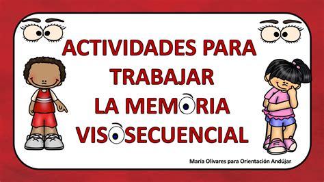 Actividades Para Trabajar La Memoria Visosecuencial