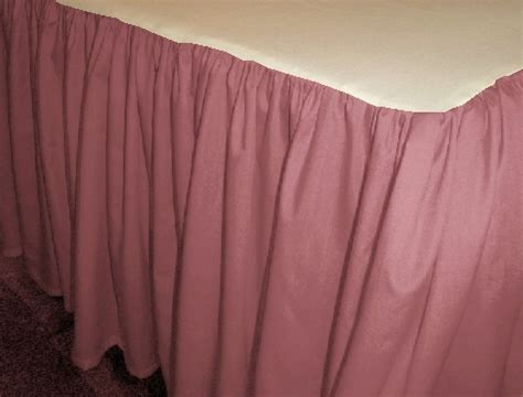 Solid Rose Colored Bedskirt (in all sizes from twin to cal