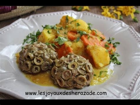 les recettes de cuisine cuisine algerienne viande hachée moulée aux olives متبل