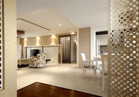 White Style Interior With Wooden Partition