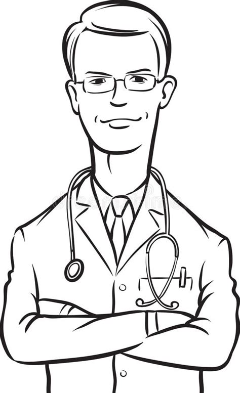 14920 doctor clipart black and white whiteboard drawing doctor arms crossed stock vector