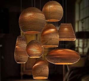 Decorative Modern Pendant Light Recycled Cardboard Pendant