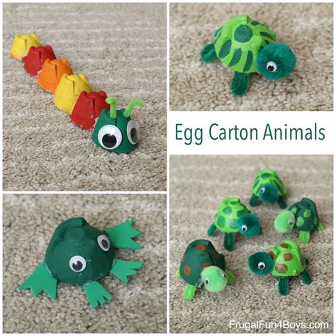 Adorable Egg Carton Turtle Craft And A Caterpillar And
