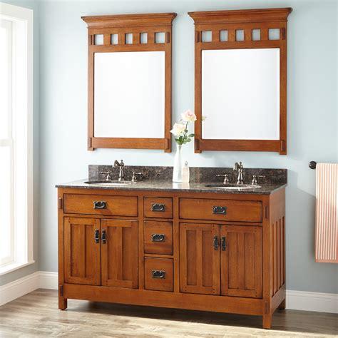 american craftsman double vanity  undermount sinks