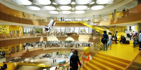 c f møller reveals designs for lego headquarters in