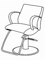 Barber Coloring Pages Printable Jobs Drawing Chair Getcolorings sketch template
