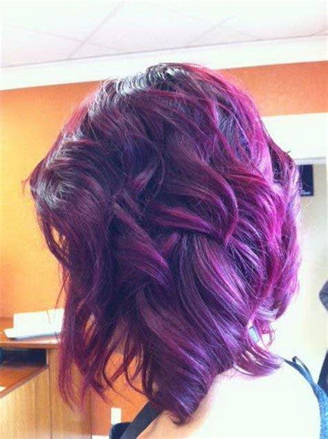 black  purple hairstyles