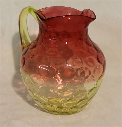 Bargain John's Antiques   Rubina Vaseline Art Glass Water