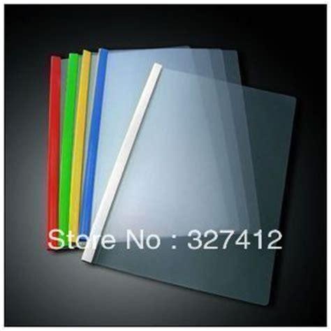 Resume Binder by Thickening Folder Transparent A4 Pumping Rod Folder Rod