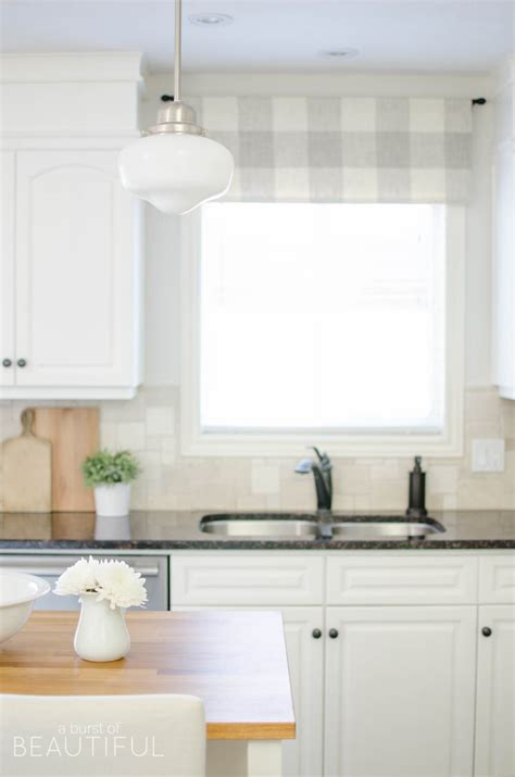 country kitchen window treatments farmhouse kitchen window valance tutorial a burst of 6181