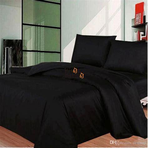 wholesale solid black bedding modern au uk us single