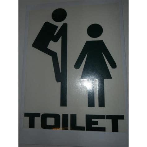 vinilo decorativo divertido asomandose aseo toilet