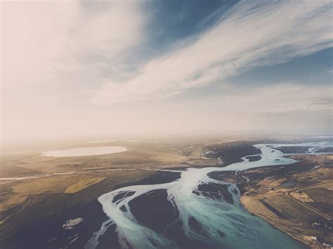 nature, Landscape, Birds eye view, River, Aerial view ...