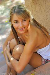 Pretty blonde teen girl