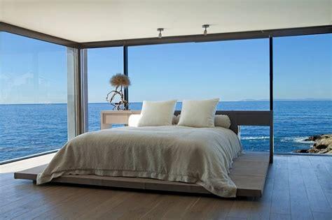 glass bedroom bedroom with ocean views and glass walls decoist