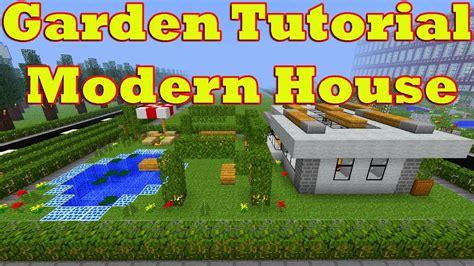 minecraft garden tutorial of modern house number 16 fully