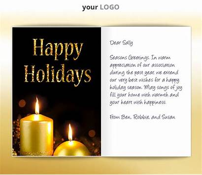 Holiday Business Ecards Animated Candles Corporate Ecard