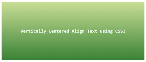 Html5 Center Div by Vertically Center Align Text In Div Css3 Tutorial Jinni