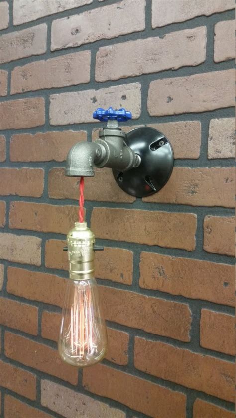 bathroom diy pipe lamps   recycled taps id lights