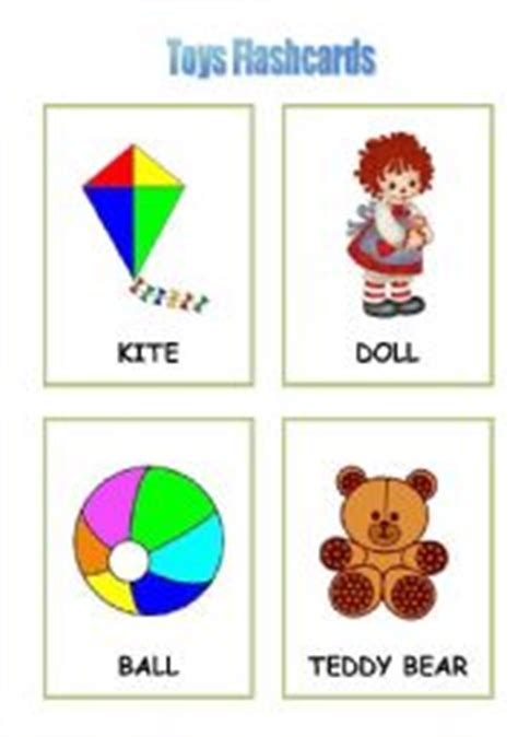 Toys Flashcards  Esl Worksheet By Lizbeth
