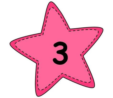 number flashcards  star preschool  homeschool