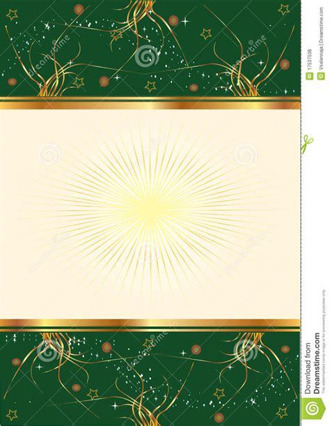 green background  floral gold design royalty