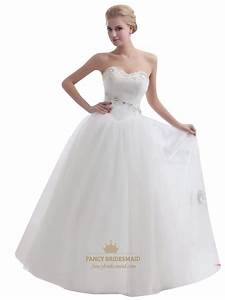 ivory sweetheart tulle ball gown wedding dress with beaded With ivory ball gown wedding dress