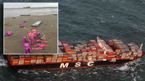 le  grand porte conteneurs au monde en perd  en mer
