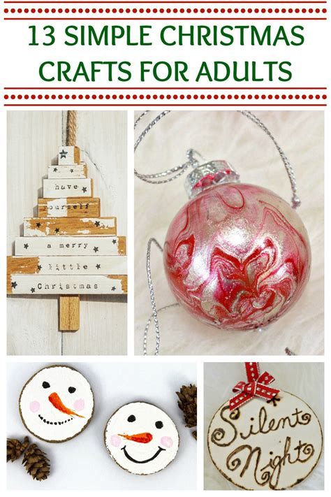 simple christmas crafts adults    time  love