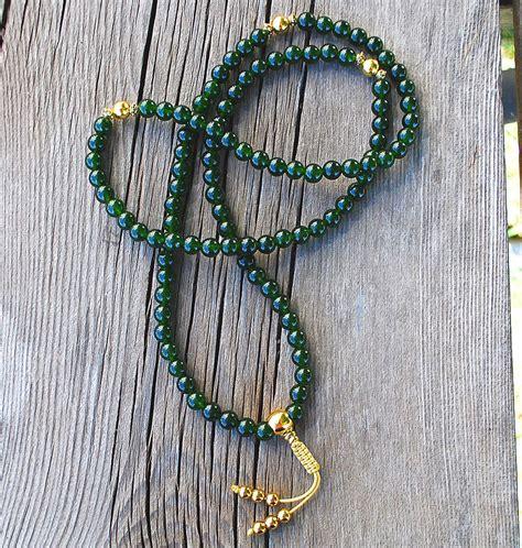 Jade & Gold Mala- Adjustable