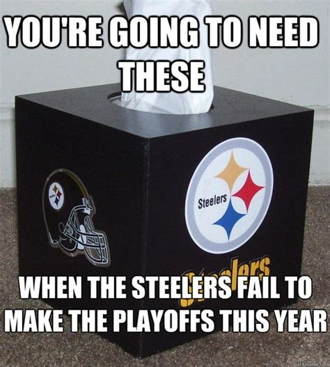 Funny Pittsburgh Steelers Memes - funny anti steelers pictures steelers tissues youre going to need these when the steelers